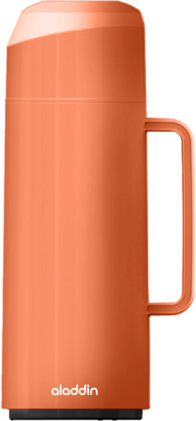 Garrafa Térmica Massima Rolha na cor laranja